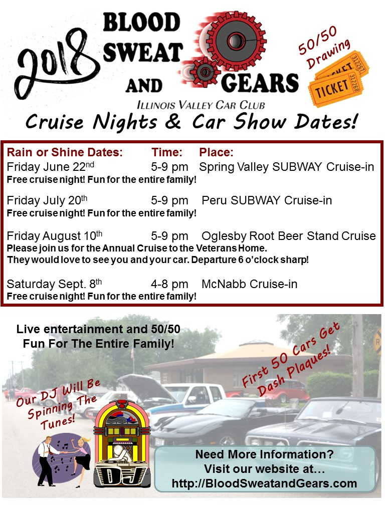 Blood Sweat And Gears Car Club Special Events News - Route 66 cruisers car show list